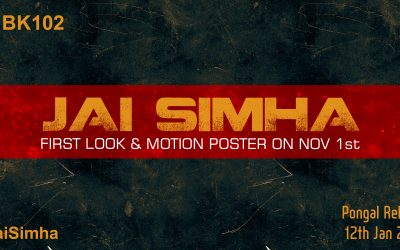 NBK102 Jai Simha First Look, Motion Poster Launch On Nov 1