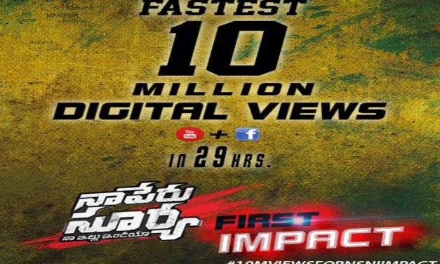 Naa Peru Surya Teaser Is Fastest To Reach 10 Million Views