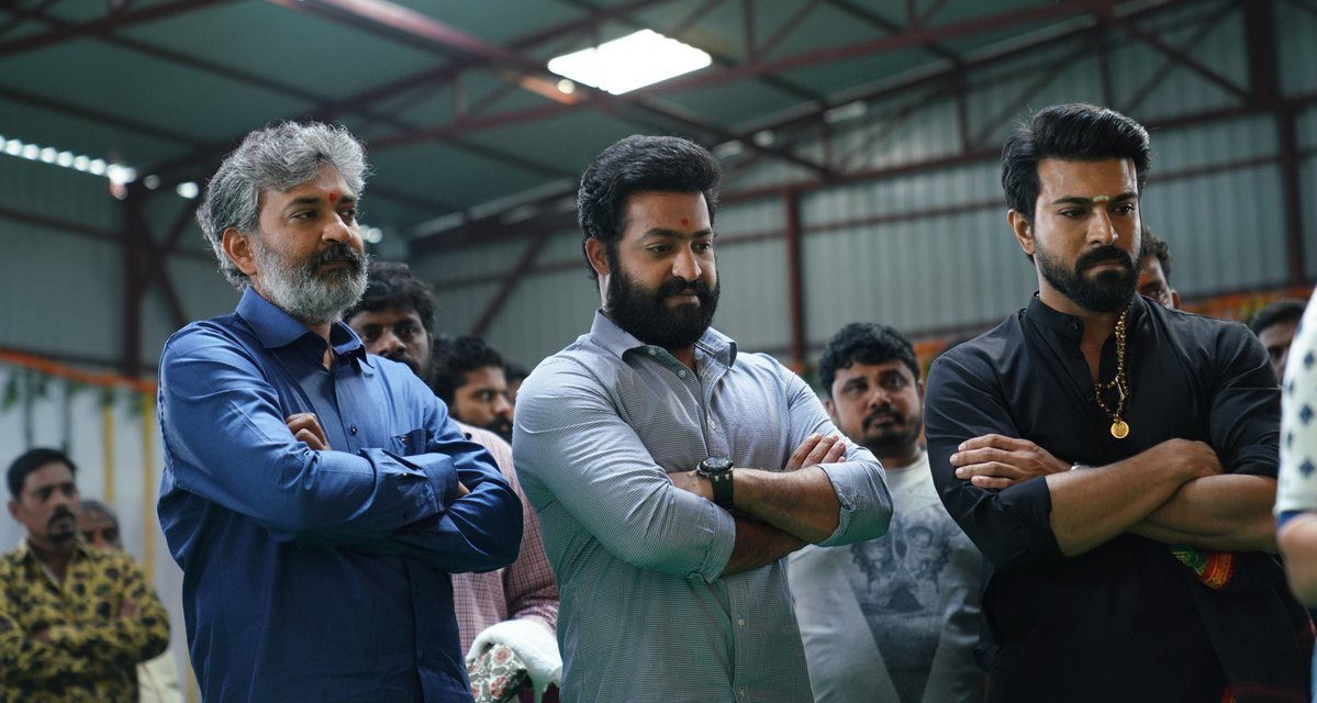 Young Tiger NTR, Mega Powerstar Ram Charan's Massive Multistarrer  with Ace Director SS Rajamouli launched